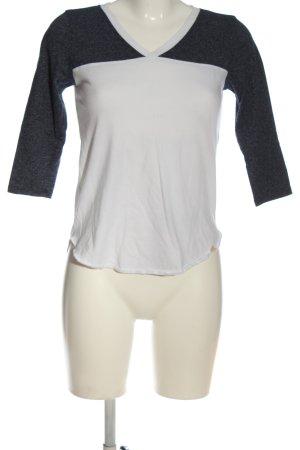 Hollister Schlupf-Bluse weiß-schwarz meliert Casual-Look