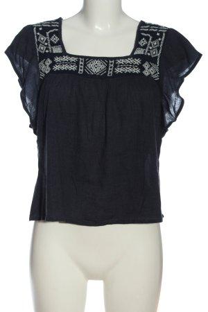 Hollister Schlupf-Bluse blau-weiß Casual-Look