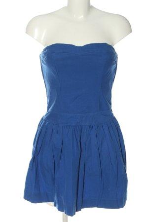 Hollister schulterfreies Kleid blau Casual-Look