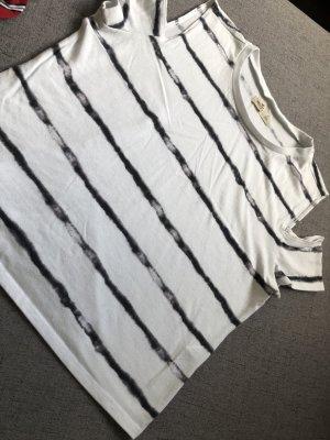 Hollister T-shirt court blanc-gris