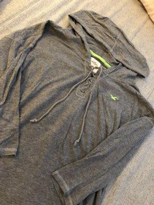 Hollister Camisa holgada gris-verde neón