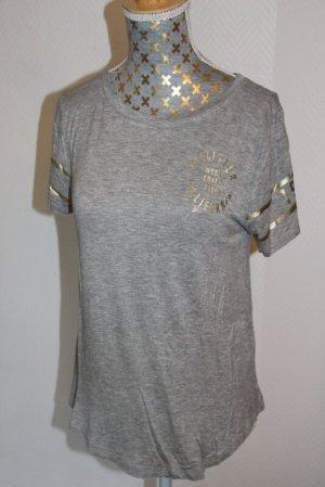 Hollister T-shirt szary-złoto Wiskoza