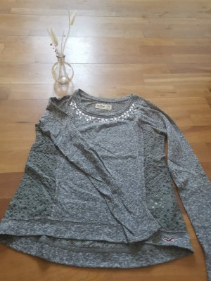 Hollister Shirt grau, Größe XS 34, Lochmuster