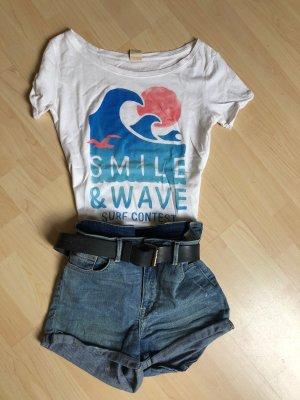 Hollister Shirt T-Shirt weiß Surf