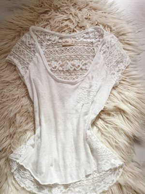 Hollister Shirt used look mit spitze S