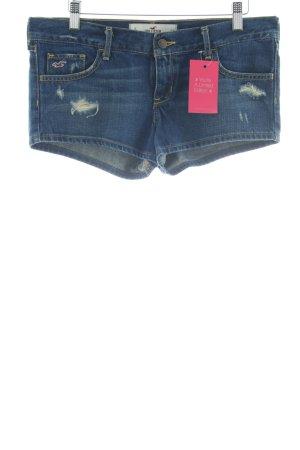 Hollister Shorts blau Jeans-Optik