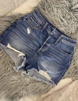 Hollister High-Waist-Shorts blue-slate-gray