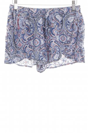 Hollister Shorts blau-weiß abstraktes Muster Casual-Look