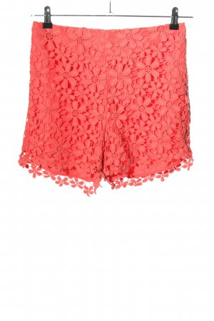 Hollister Shorts rot Blumenmuster Casual-Look