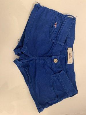 Hollister Hot pants blauw Gemengd weefsel