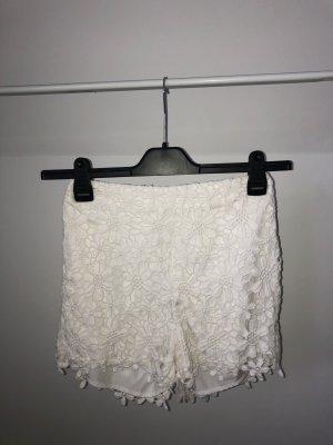 Hollister Pantalón corto de talle alto blanco-blanco puro