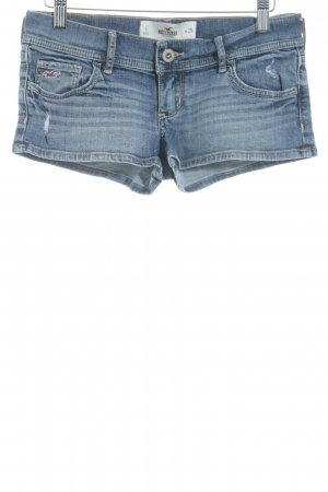 Hollister Shorts stahlblau Destroy-Optik
