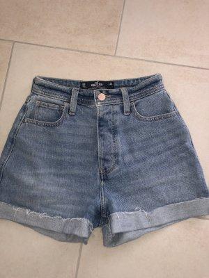 Hollister Pantalón corto de talle alto azul celeste-azul aciano