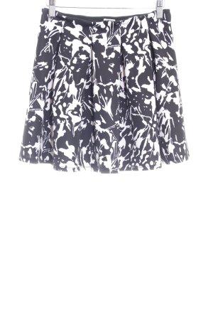 Hollister Skaterrock schwarz-weiß grafisches Muster Casual-Look
