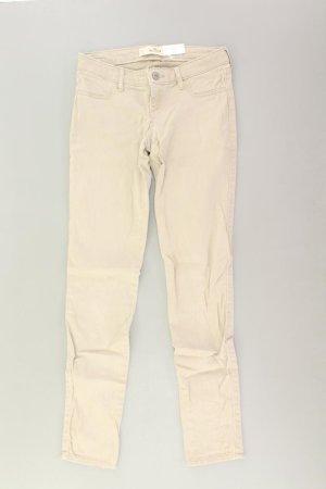 Hollister Skinny Jeans Größe W24 creme aus Baumwolle