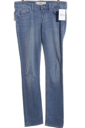 Hollister Skinny Jeans hellblau-wollweiß Washed-Optik