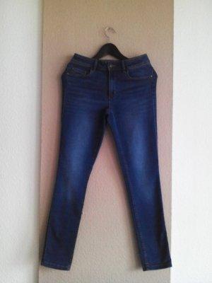 Hollister Skinny Jeans mi hohem Bund in marineblau, Größe INCH 29, L 29