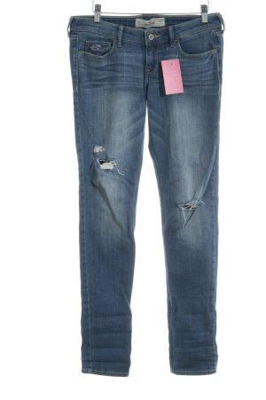 Hollister Skinny Jeans stahlblau Casual-Look