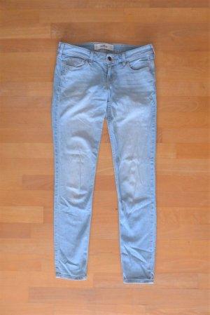 Hollister Skinny Slim Röhre Jeans hellblau W27L29 Gr. 36 XS S