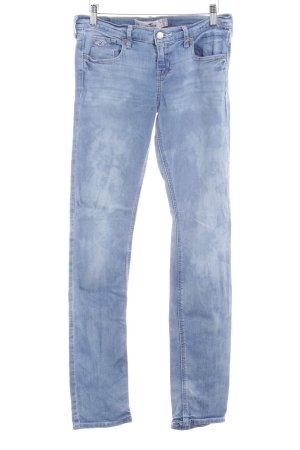 Hollister Slim Jeans blau Bleached-Optik