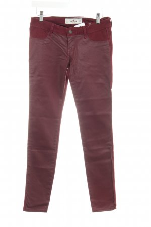 Hollister Slim Jeans bordeauxrot extravaganter Stil