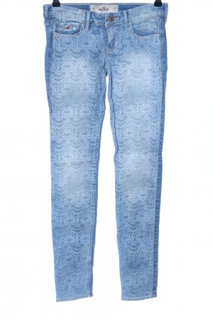 Hollister Slim Jeans blau abstraktes Muster Casual-Look