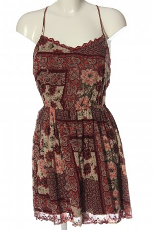 Hollister Sommerkleid rot-pink Allover-Druck Casual-Look