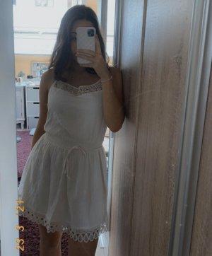 hollister sommerkleid weiß girly minikleid spitze