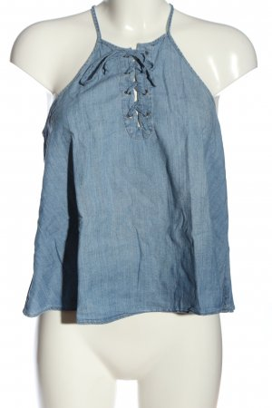 Hollister Top con bretelline blu stile casual