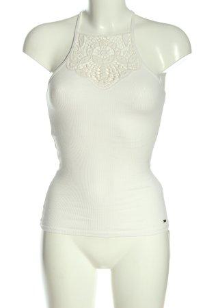 Hollister Top z cienkimi ramiączkami biały W stylu casual