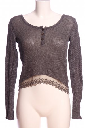 Hollister Lace Blouse light grey flecked casual look