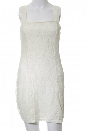 Hollister Lace Dress natural white flower pattern casual look