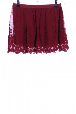 Hollister Lace Skirt red flower pattern casual look