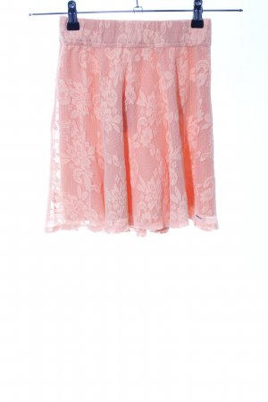 Hollister Spitzenrock pink Blumenmuster Elegant