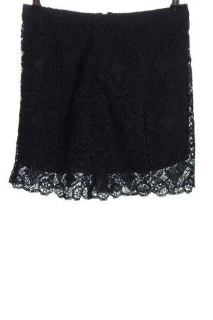 Hollister Falda de encaje negro estilo «business»