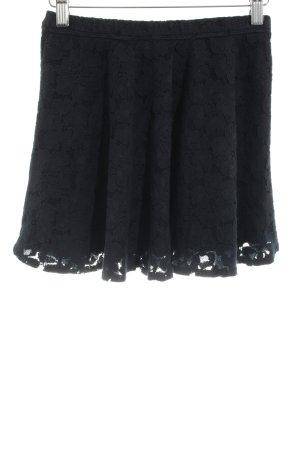 Hollister Spitzenrock schwarz Blumenmuster Elegant