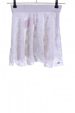 Hollister Lace Skirt light grey casual look