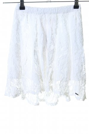 Hollister Falda de encaje blanco look casual