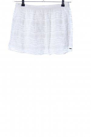 Hollister Lace Skirt white striped pattern casual look