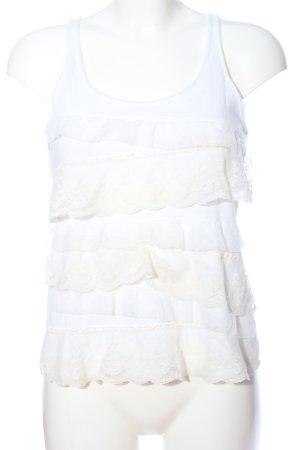 Hollister Kanten topje wit casual uitstraling