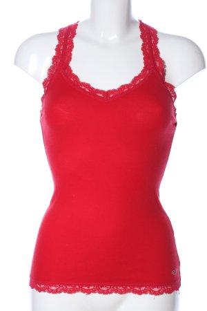 Hollister Top di merletto rosso stile casual