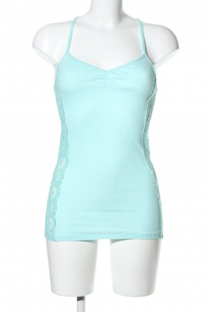 Hollister Lace Top turquoise casual look