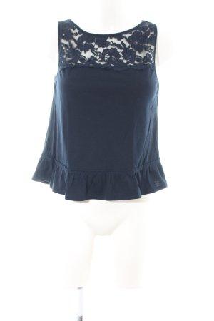 Hollister Spitzentop blau Casual-Look