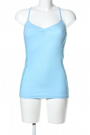 Hollister Lace Top blue casual look