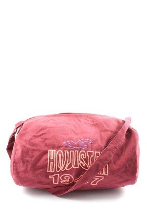 Hollister Sporttas roze gedrukte letters casual uitstraling
