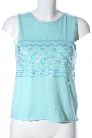 Hollister Sporttop türkis grafisches Muster Casual-Look
