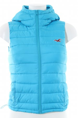 Hollister Quilted Gilet blue quilting pattern casual look