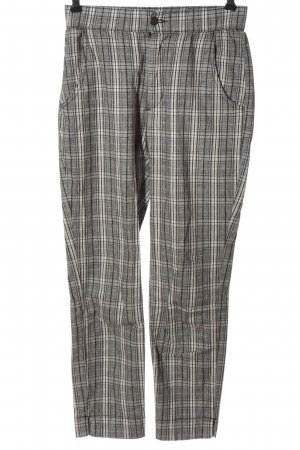 Hollister Jersey Pants light grey check pattern casual look