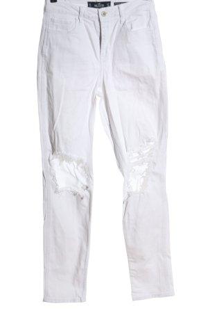 Hollister Jeansy z prostymi nogawkami biały W stylu casual