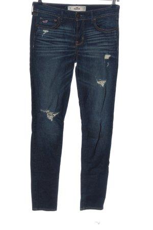 Hollister Jeans coupe-droite bleu style décontracté